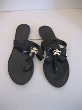 478b8ec8f04647 Rampage Women s Black Plastic Jelly Bow Slip On Flip Flop Sandals Sz 8 NWNB