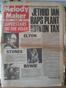 Melody Maker May 8th '76 - David Bowie Rolling Stones Budgie Steely Dan Budgie