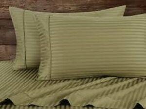 All Stripe Colors / Sizes Split Sheet Set 1000 Thread Count Pure Egyptian Cotton