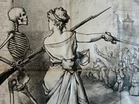 Columbia Directing US Army Skeleton Dead Christian Nast 1875 antique print