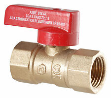 "LDR 020 1503 1/2"" I.P.S. Brass Gas Ball Valve CSA Approved (3-88)"