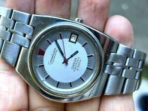 Rare Omega Constellation Electronic f300HZ Rare Asymmetrical D Shape 198.0004