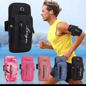 Running Phone Arm Band Holder Case Cover Cell Phone Zipper Bag Sport Gym Jogging