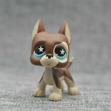 Littlest Pet Shop LPS Brown Great Dane Dog Puppy Blue Dot Eyes Toy #817 Xmas