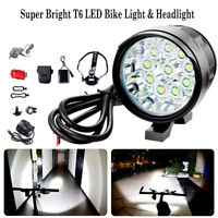 35000LM XM-L T6 LED Recargable Frontal Bicicleta Lampara Linterna Faro luz Torch