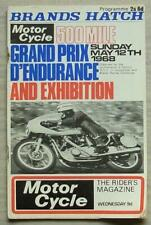 BRANDS HATCH 12 May 1968 500 MILE GRAND PRIX D´ENDURANCE Motorcycle Programme