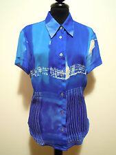 MOSCHINO VINTAGE '80 Women's Shirt Jersey Woman Shirt Sz. M - 44