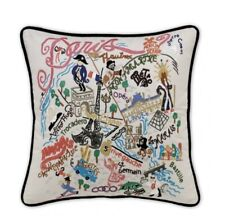 Cat Studio Large Paris Embroidered Pillow RRP £155
