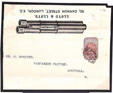 Ms3182 Gb Advertising Postal Stationery *Pipes* Rare Illustrated Wrapper Cover