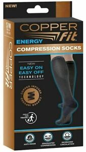 Compression Socks Copper Fit Anti-Odor Increases Circulation Size S/M, L/XL NEW
