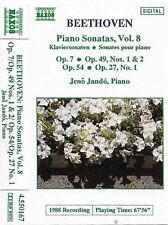 Beethoven, Jenö Jandó Piano Sonatas, Vol. 8 CASSETTE ALBUM Naxos