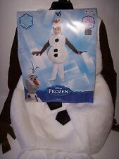 DISNEY OLAF KIDS COSTUME SIZE LARGE 4-6 NEW FREE SHIPPING!!! FROZEN!!! SNOWMAN