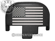 For Smith Wesson S&W M&P 9 40 45 Rear Slide Back Plate Blk US Flag