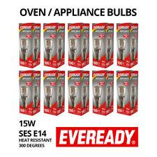 10 X OVEN COOKER APPLIANCE LIGHT BULB 300°C LIGHT 15W 240V E14 SES EVEREADY