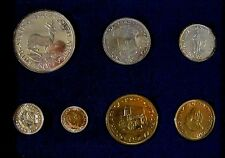1962 South Africa 7 Piece w/Silver Proof Coin Set    #b ** FREE U.S. SHIPPING **