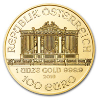 CH/GEM BU 1 oz. 2018 Gold Austrian Philharmonic Coin 1 Ounce Pure Gold
