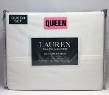 Ralph Lauren 300TC Dunham Sateen White Queen Sheet Set