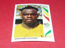 529 ADEKANMI OLUFADE  TOGO PANINI FOOTBALL GERMANY 2006 WM FIFA WORLD