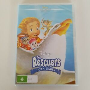Disney Classics THE RESCUERS DOWN UNDER (1990 Film) DVD Pal 4 New Sealed
