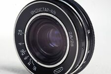 INDUSTAR-69 2.8/28 Russian Soviet Wide Angle Pancake Lens M39 GOOD CONDITION