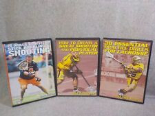 3 Championship Productions Lacrosse Dvds 20 Drills~Great Shooter~30 Practice