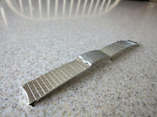 Seiko Stainless Steel Dimple Pattern18mm Curved End Watch Band F62