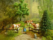 H0 Diorama HO 1:87 zum Bauernhof Kuhweide Wald Kühe Wiese Tiere EINZELSTÜCK