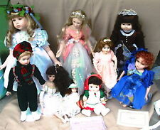 9 Collectable Porcelain Dolls Fairies  91 J. DeFilippo 89 Brigitte Deval Cathay