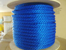 """ANCHOR ROPE DOCK LINE 5/8"""" X 100' BRAIDED 100% NYLON ROYAL BLUE MADE IN USA"""