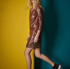 No. 21 Alessandro Dell'Acqua $1230 metallic copper sequin paillette dress 38 NEW