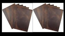 Leather Sheets Cow Hide Pieces for Crafts /Earrings Bourbon Brown -Bundle Cuts