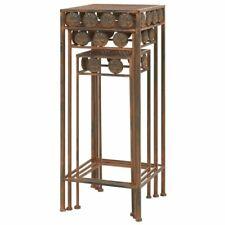 Antique Metal Plant Stands 3pc Different Sizes Rust LOOK Indoor Outdoor Pedestal