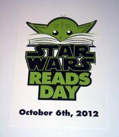 STAR WARS READS DAY Promo Yoda Postcard Del Rey Comic Con 2012