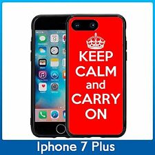 Red Keep Calm and Carry On For Iphone 7 Plus & Iphone 8 Plus (5.5) Case Cover