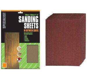 Sandpaper Sanding Sheets Fine Medium Coarse 60 80 120 180 240 Grit