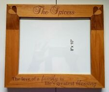 Personalized 8x10 Family picture frame Love Life Blessing