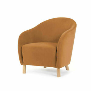 Velvet Chair Caramel, Suitable For Indoor Style Of Your Home Decor AU