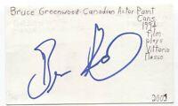 Bruce Greenwood Signed 3x5 Index Card Autographed Signature Actor Star Trek