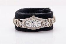 Antique 1920s Platinum 14k White Gold Filigree 1.50ct Diamond Tiffany & Co Watch