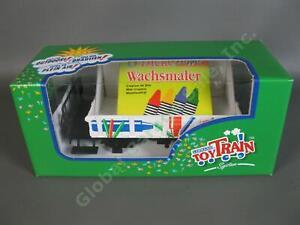 NEW LGB Lehmann G Scale Toy Train 94805 Wagon Gondola Car with Wax Crayons NR