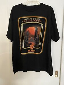 Earth Wind & Fire Chic Feat. Nile Rodgers Concert  T-Shirt Size XL