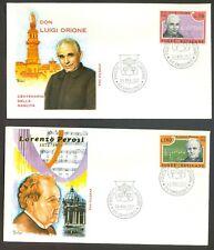 Vatican City Sc# 526-7: Luigi Orione and Lorenzo Perosi on FDC