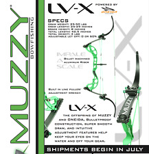 "MUZZY/ONEIDA LV-X Bowfishing BOW- RH, 25-50#, 26"" TO 29"" DRAW"
