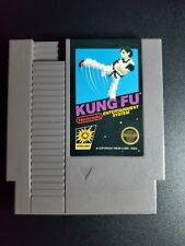 Kung Fu Black Box game Authentic Nintendo NES NRMT condition 5 Screw cartridge