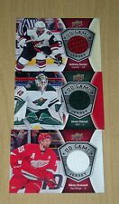 16-17 Upper Deck s2 UD Game Jersey 3-card lot Kronwall Dubnyk Duclair