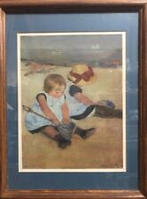 "Mary Cassatt Vintage Art Print ""Children Playing on the Beach"""