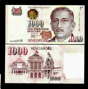 SINGAPORE 1000 1,000 Dollars P43 1999 Portrait UNC Richard Hu SIGN Bill BANKNOTE