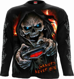 Spiral Direct RESPAWN Mens Long Sleeve Gamer/Biker/Reaper/T Shirt/Top/Clothing