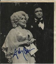 Johnny Cash signed Magazine Page cutout - Singer: I Walk The Line, Man In Black