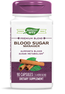 Nature's Way Blood Sugar Manager Vegan Capsules